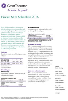 Fiscaal Slim Schenken 2016